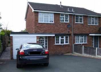 Thumbnail 3 bed semi-detached house to rent in Peverill Road, Perton, Wolverhampton