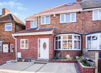 Thumbnail 4 bed semi-detached house for sale in Downham Avenue, Leicester