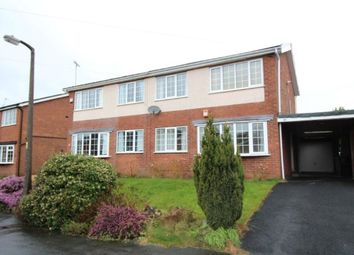 Thumbnail 3 bed semi-detached house to rent in St. Austell Avenue, Macclesfield