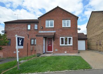 Thumbnail 3 bed semi-detached house for sale in Burghley Court, Great Holm, Milton Keynes