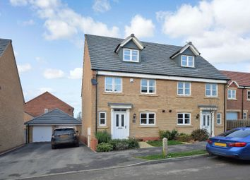 Thumbnail 4 bedroom semi-detached house for sale in Devana Way, Great Glen, Leicester
