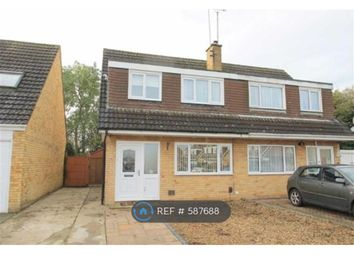 Thumbnail 3 bed semi-detached house to rent in Bilsdon Close, Rushden