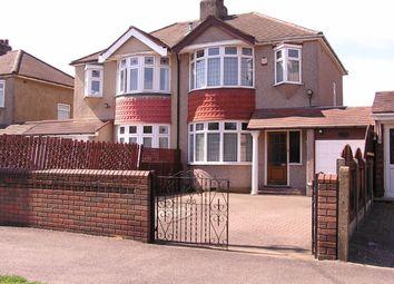 Thumbnail 3 bed semi-detached house for sale in Wennington Road, Rainham, Essex