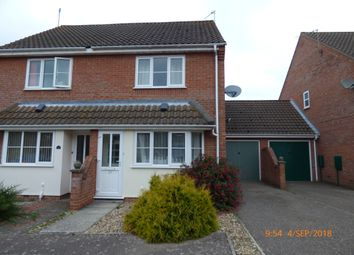 Thumbnail 2 bed semi-detached house to rent in Mirbecks Close, Worlingham, Beccles