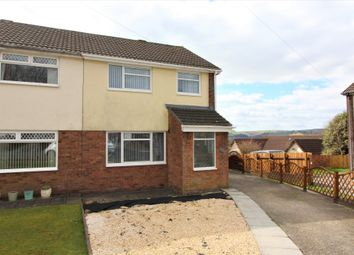 Thumbnail 3 bedroom semi-detached house for sale in Shannon Close, The Bryn, Pontllanfraith, Blackwood