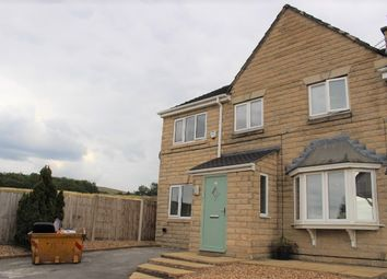 Thumbnail 4 bed semi-detached house for sale in Crowden Drive, Hadfield, Glossop
