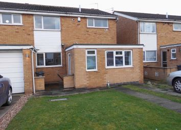 Thumbnail 3 bed town house for sale in Alderton Close, Leicester