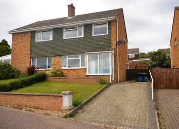 Thumbnail 3 bed semi-detached house for sale in Parkside Drive, Exmouth, Devon