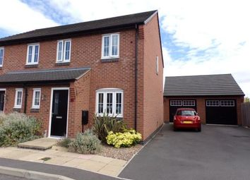 Thumbnail 3 bed semi-detached house for sale in Eatough Close, Syston, Leicester, Leicestershire