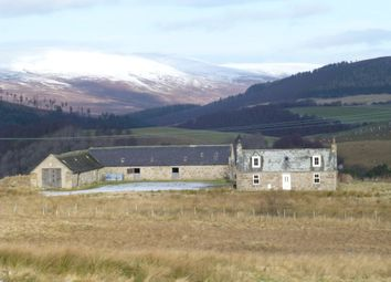 Thumbnail 3 bed detached house for sale in Wester Fodderletter Farmhouse, Tomintoul, Ballindalloch