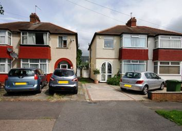 Thumbnail 3 bed semi-detached house to rent in Hamilton Avenue, North Cheam, Sutton