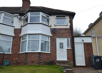 Thumbnail 3 bedroom semi-detached house for sale in Fairway, Northfield, Birmingham