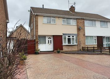 Thumbnail 3 bed semi-detached house for sale in Yarwell Drive, Wigston, Leicester