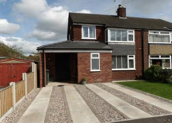 Thumbnail 3 bed semi-detached house for sale in Welwyn Close, Thelwall, Warrington, Cheshire