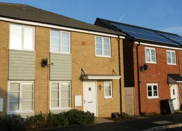 Thumbnail 1 bed end terrace house to rent in Jupiter Avenue, Cardea, Peterborough