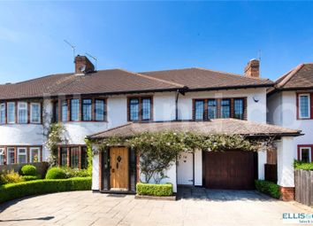 Thumbnail 4 bed semi-detached house for sale in Elmgate Gardens, Edgware, Middlesex