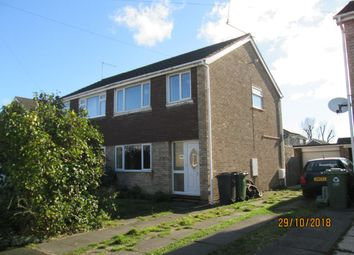 Thumbnail 3 bed semi-detached house to rent in Worthington Close, Stilton, Peterborough