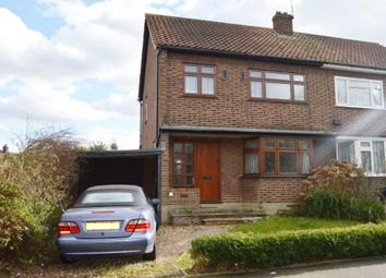 Thumbnail 3 bed semi-detached house for sale in Kersey Gardens, Harold Wood, Romford