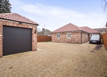 Thumbnail 4 bedroom detached bungalow for sale in Hall Lane, West Winch, King's Lynn