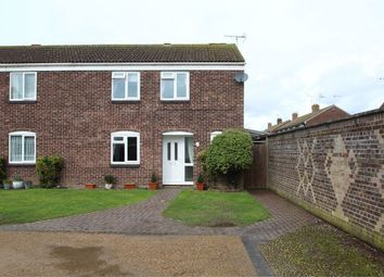 Thumbnail 3 bed semi-detached house for sale in Jubilee Crescent, Stowupland, Stowmarket, Suffolk