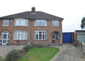 Thumbnail 3 bed semi-detached house for sale in Darley Road, Blaby, Leicester
