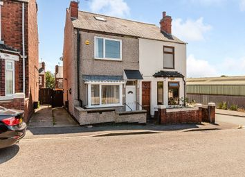 Thumbnail 2 bed semi-detached house for sale in Station Lane, New Whittington, Chesterfield, Derbyshire.