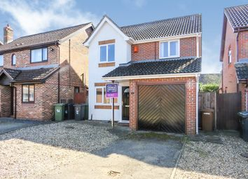 Thumbnail 3 bed detached house for sale in Laxton Close, Attleborough