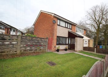 Thumbnail 3 bed semi-detached house for sale in Central Drive, Reddish, Stockport, Cheshire