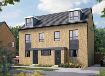"Thumbnail 3 bed semi-detached house for sale in ""The Willen"" at London Road, Calverton, Milton Keynes"