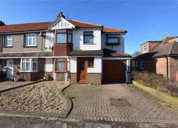 Thumbnail 3 bedroom end terrace house for sale in Orchard Avenue, Lancing, West Sussex