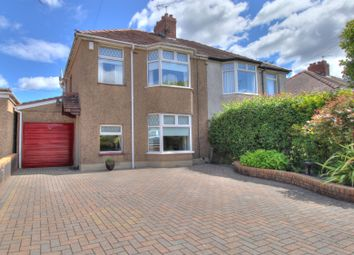 Thumbnail 3 bed semi-detached house for sale in High Cross Road, Rogerstone, Newport