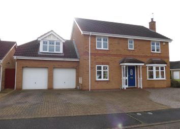 Thumbnail 5 bedroom detached house for sale in Stephenson Close, Yaxley, Peterborough