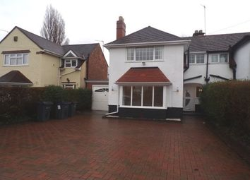 Thumbnail 3 bed semi-detached house to rent in Orchard Road, Erdington, Birmingham