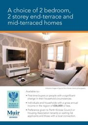 Thumbnail 2 bed property to rent in Shared Equity Homes In Auchterarder, Auchterarder
