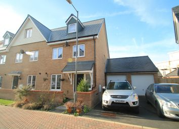Thumbnail 3 bed semi-detached house for sale in Conference Road, Berryfields, Aylesbury, Bucks