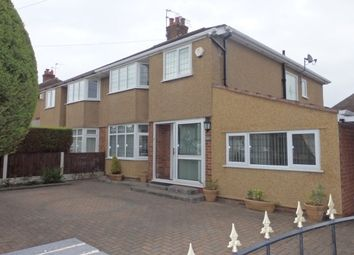 Thumbnail 4 bed semi-detached house to rent in Speedwell Drive, Heswall, Wirral