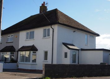 Thumbnail 3 bed semi-detached house to rent in Church Road, Rhoose, Barry