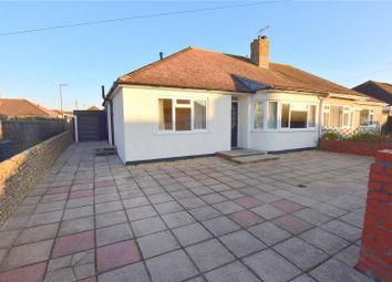 Thumbnail 3 bed semi-detached bungalow for sale in The Crescent, Lancing, West Sussex