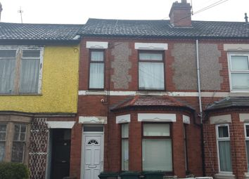 Thumbnail 3 bed terraced house to rent in Gresham Street, Coventry, West Midlands