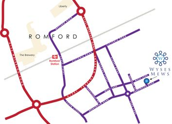 Thumbnail 4 bed detached house for sale in Wyses Mews, Brentwood Road, Romford