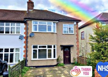 Thumbnail 3 bed semi-detached house to rent in Stanley Avenue, Gidea Park, Romford