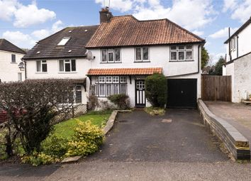 Thumbnail 4 bed semi-detached house for sale in Markfield Road, Caterham, Surrey