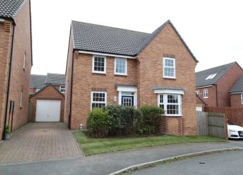 Thumbnail 4 bed detached house for sale in Snowgoose Way, Newcastle-Under-Lyme