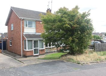 Thumbnail 3 bed semi-detached house for sale in Seaton Road, Wigston, Leicester