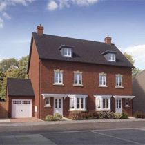 Thumbnail 3 bedroom town house for sale in Eversley Road, Hellesdon