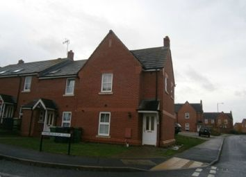 Thumbnail 3 bed end terrace house to rent in Farnborough Close, Oakley Vale, Corby