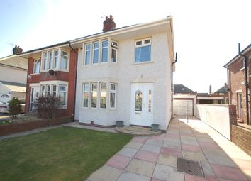 Thumbnail 3 bed semi-detached house for sale in Raleigh Avenue, Blackpool