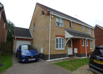 Thumbnail 3 bed semi-detached house to rent in Copplestone Close, Worlingham, Beccles