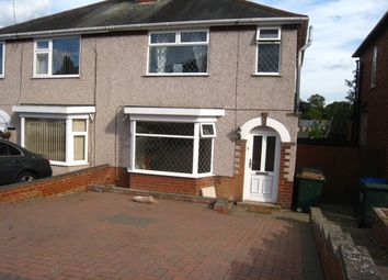Thumbnail 3 bedroom semi-detached house to rent in Burnham Road, Whitley, Coventry