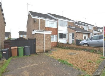 Thumbnail 3 bed semi-detached house for sale in Wantage Road, Irchester, Wellingborough, Northamptonshire